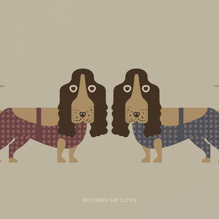 "Rock 'N Roll Zoo: Hounds of Love - 12"" Print"