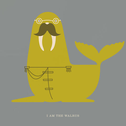 "Rock 'N Roll Zoo: I Am the Walrus - 12"" Print"