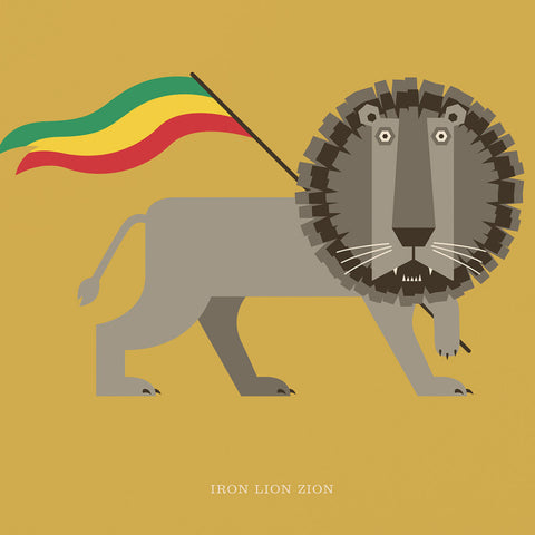 "Rock 'N' Roll Zoo: Iron Lion Zion - 12"" Print"