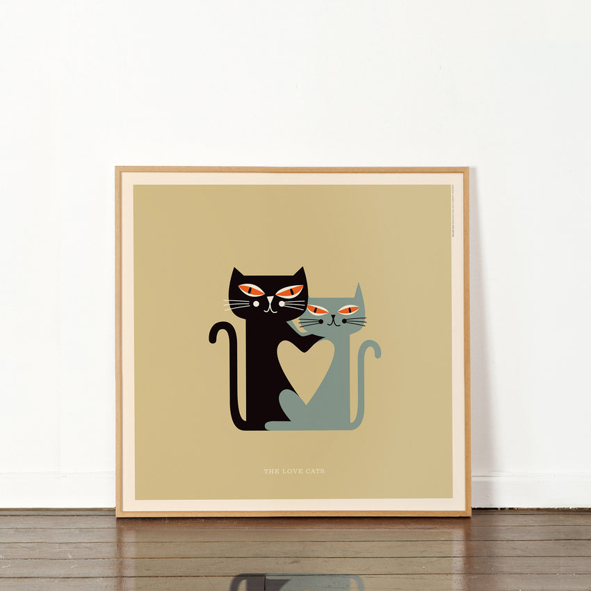 "Rock 'N Roll Zoo: The Love Cats - 12"" Print"