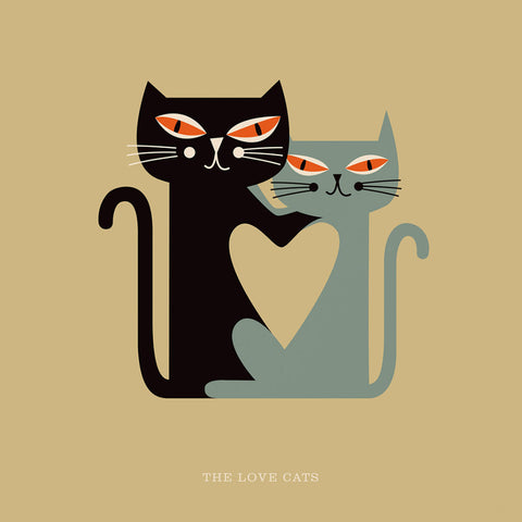 "Rock 'N' Roll Zoo: The Love Cats - 12"" Print"