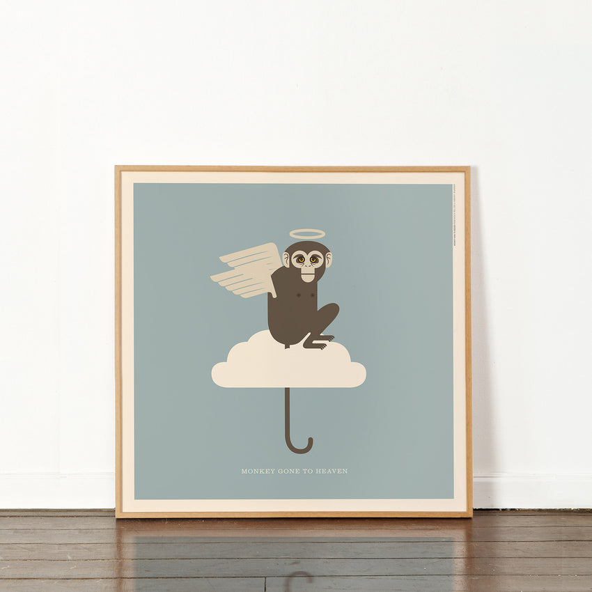 "Rock 'N Roll Zoo: Monkey Gone to Heaven - 12"" Print"