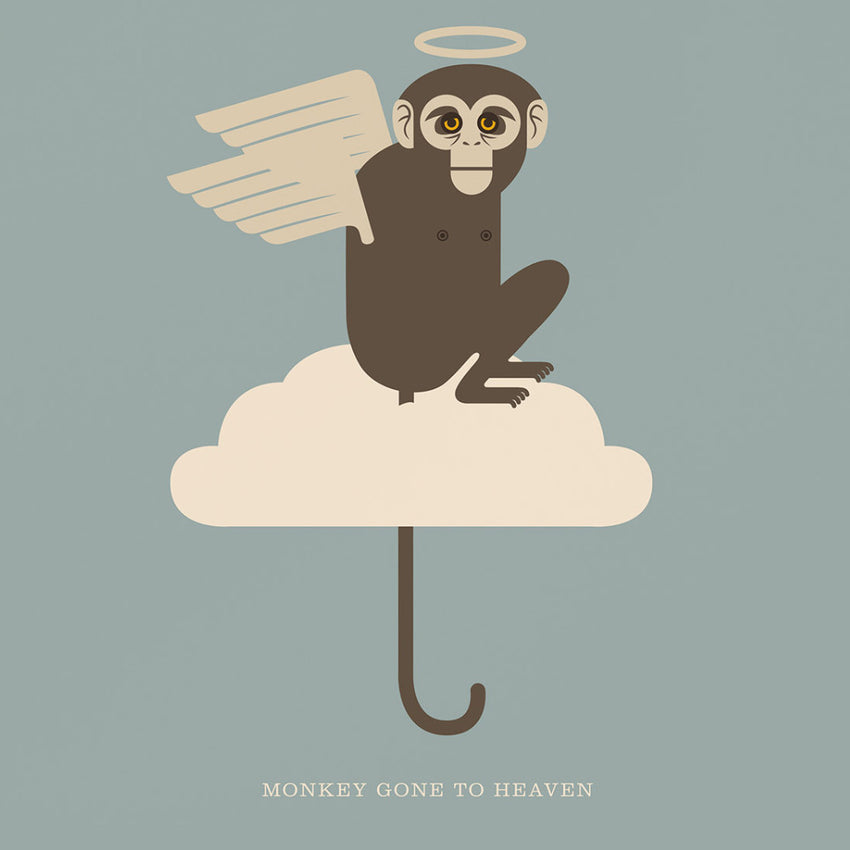 "Rock 'N' Roll Zoo: Monkey Gone to Heaven - 12"" Print"