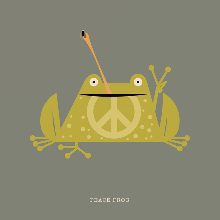 "Rock 'N' Roll Zoo: Peace Frog - 12"" Print"