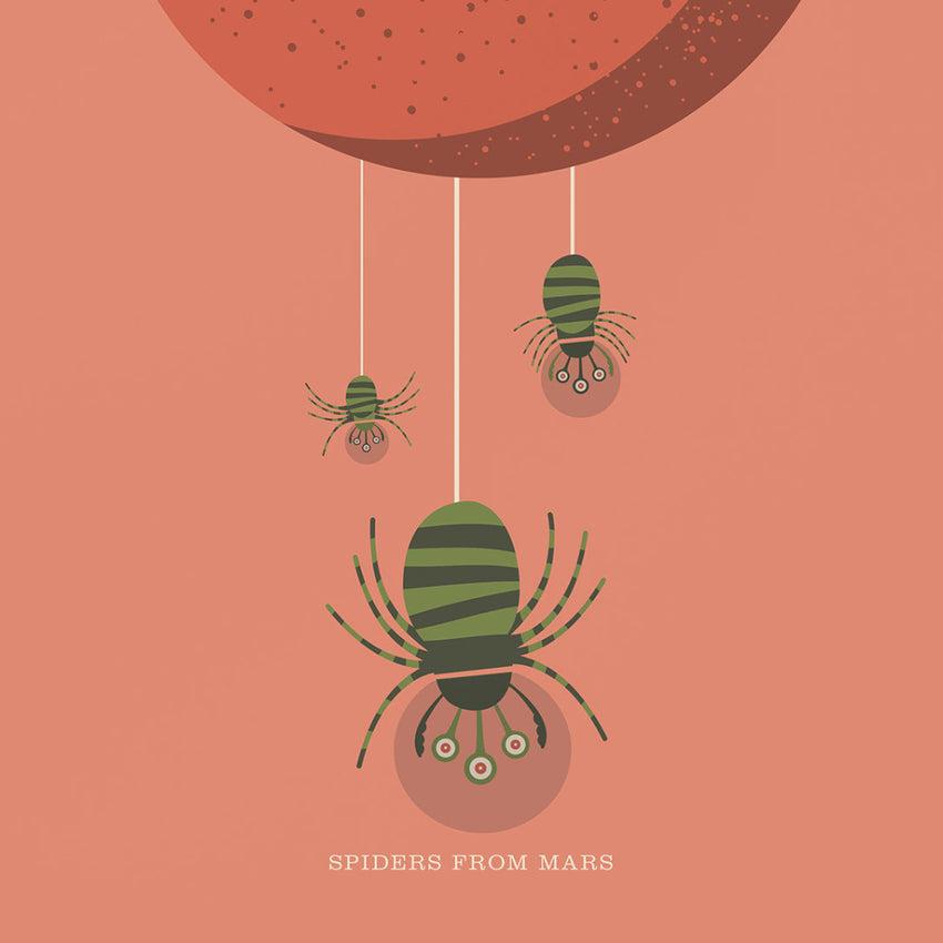 "Rock 'N' Roll Zoo: The Spiders from Mars - 12"" Print"
