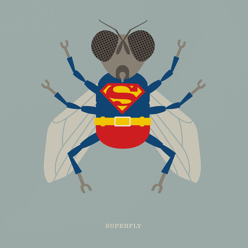 "Rock 'N' Roll Zoo: Superfly - 12"" Print"