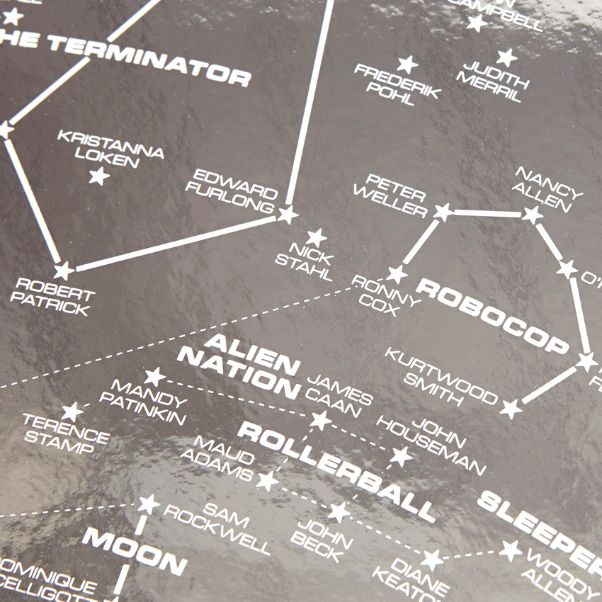 Science Fiction Star Chart - Reflective Silver Limited Edition