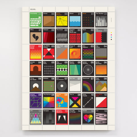 Alternative Music Stamp Album Print