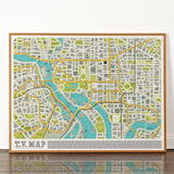 TV Map - Signed Limited Edition