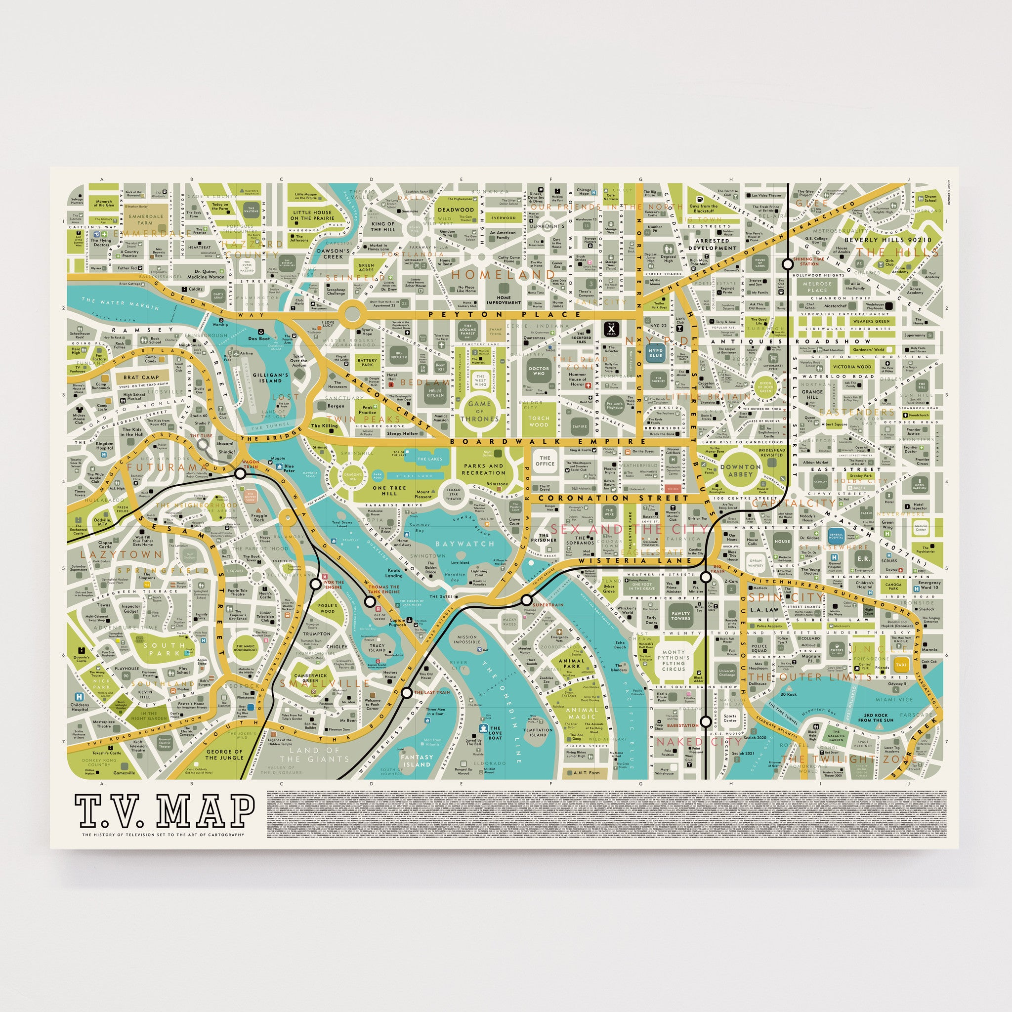 TV Map - Original Open Edition