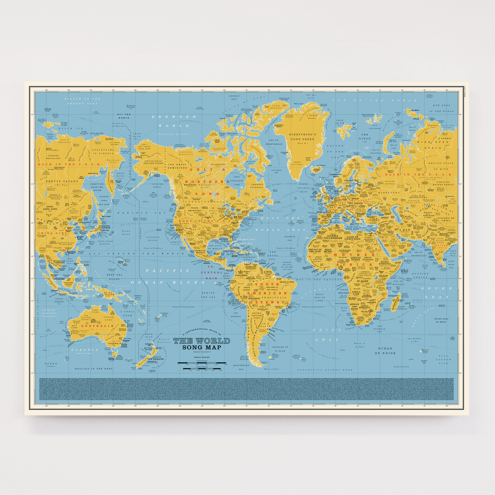 World Song Map - Special Edition on yellow numbers, globe map, yellow characters, rabies map, yellow sea in asia, editable map, lyme disease map, plain map, country map, alaska range map, mercator map, global map, ancient aegean map, diphtheria map, yellow cruiser motorcycles, yellow clock, u.s. internet map, black and white map, eastern hemisphere map, www.world map,