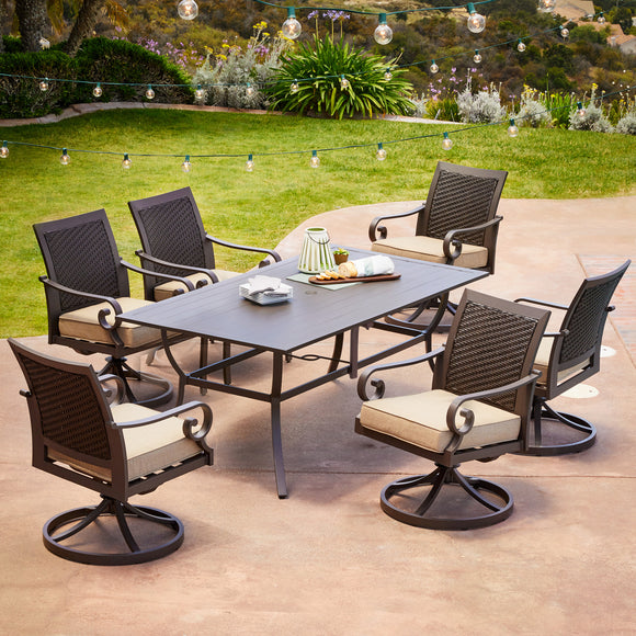 Milano 7pc Motion Dining Set
