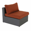 Becket 6 piece wicker sectional chair with cushions
