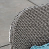 Amberly 4pc Gray Wicker Conversation Set