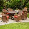 Maple Heights 7pc Wicker Trestle Dining Set