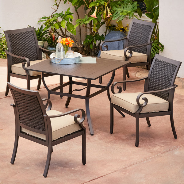 Milano 5pc Stationary Dining Set