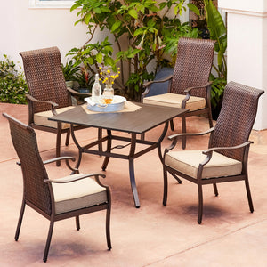 Rhone Valley 5pc Stationary Dining Set