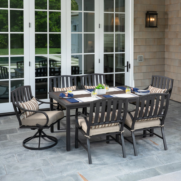 Norman 7pc Cushion Dining Set