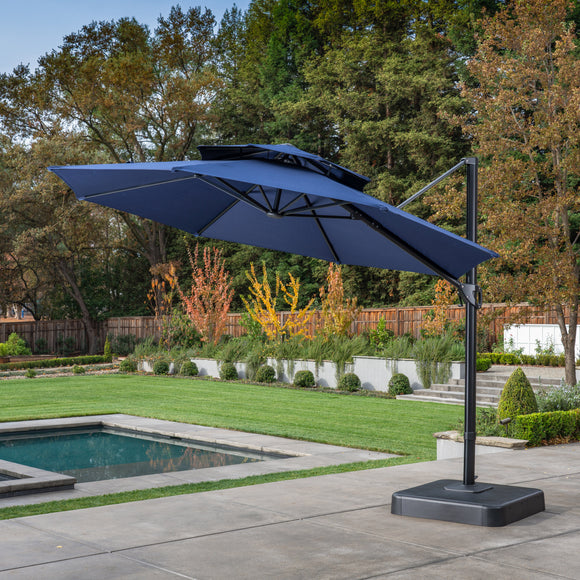 11' Aluminum / Steel Offset Sunbrella Umbrella