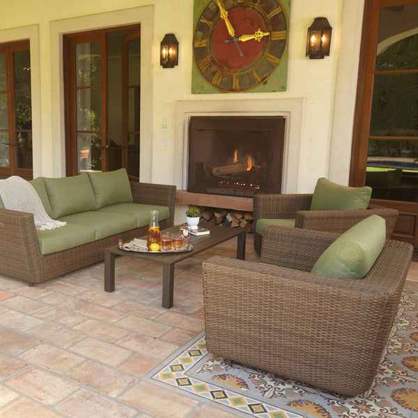 Greta 4 Piece Outdoor Wicker Seating Set with cushions