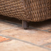 Greta Outdoor wicker chair leg closeup