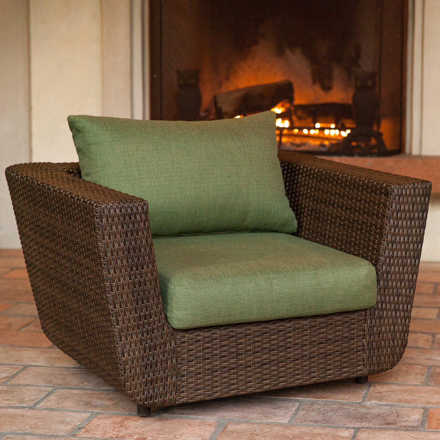 Greta Outdoor Wicker Chair With Cushion ...