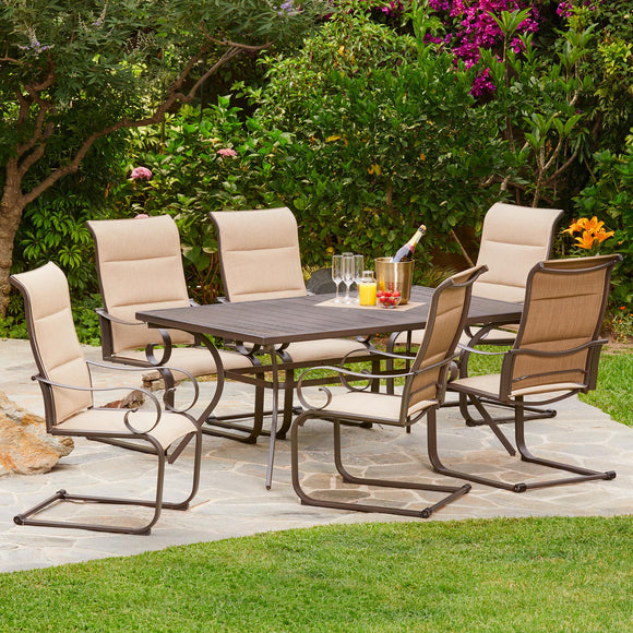 Spring Hill 7pc Padded Sling Dining Set