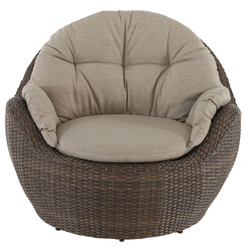 outdoor lounge club wicker chair