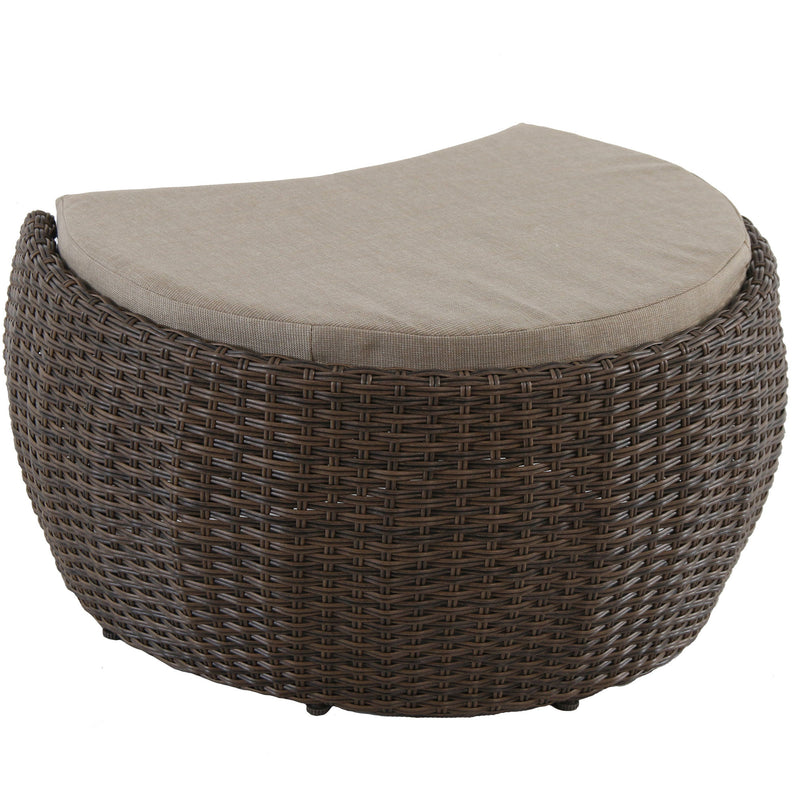 Greta outdoor lounge club wicker ottoman