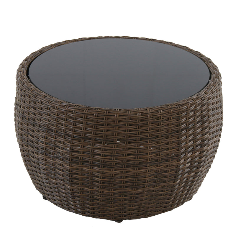 Greta outdoor lounge club wicker coffee table