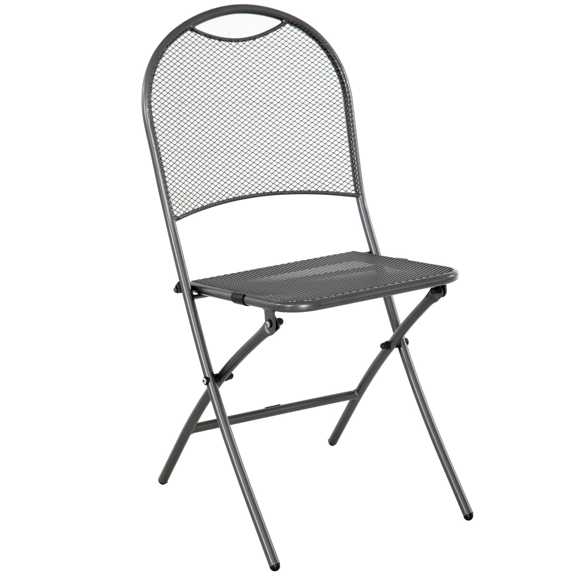 Ludwig 3 Piece Patio Folding Bistro Set With Folding Table, Chairs