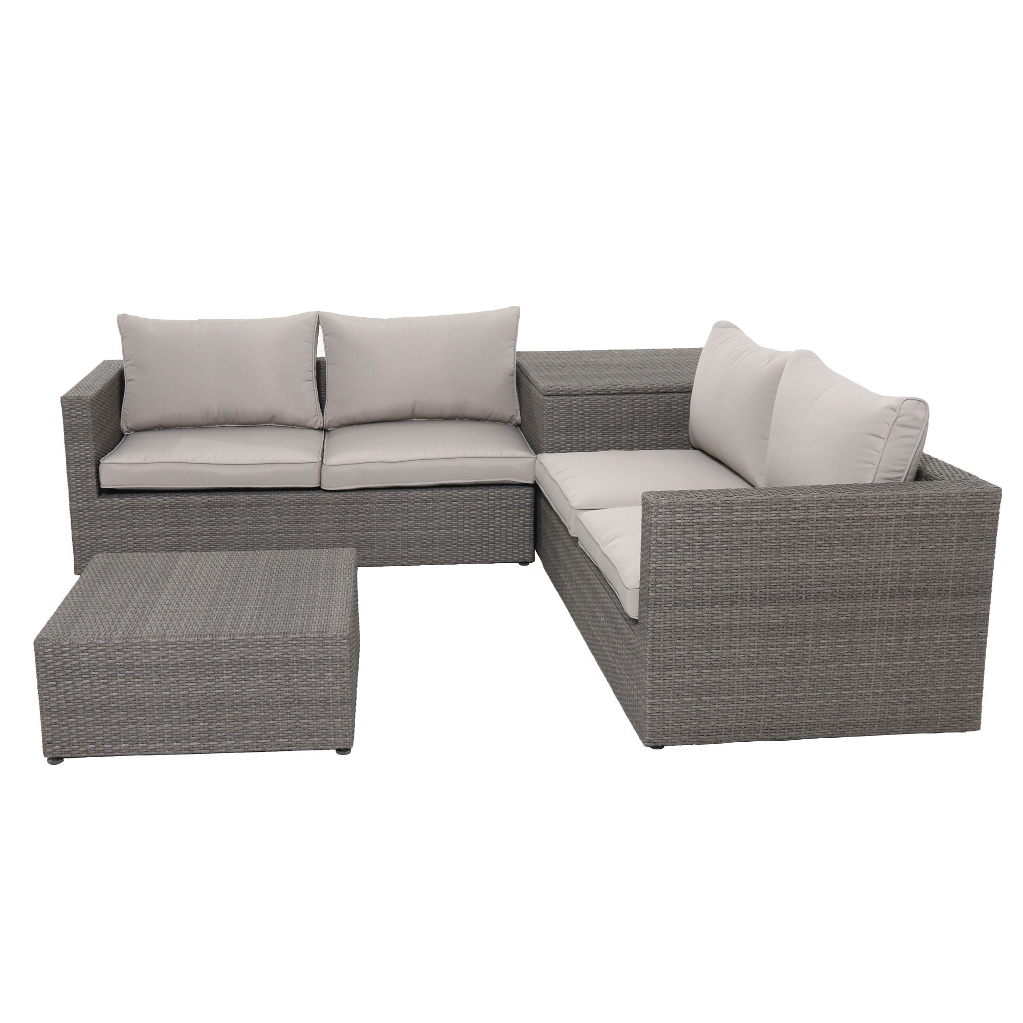 ... Nelson 4pc Resin Rattan Wicker Chair Sofa Loveseat Coffee Table Set ...