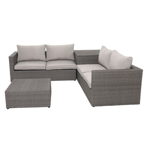 Nelson 4pc resin rattan wicker chair sofa loveseat coffee table set