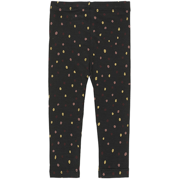 Soft Gallery Paula Leggings, Jet Black Trio Dotties