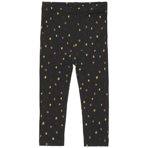 Paula Leggings, Jet Black Trio Dotties