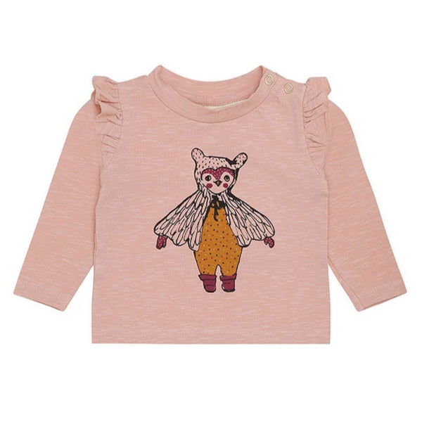 Soft Gallery Maddie T-Shirt, Peach Perfect Dotty Owl