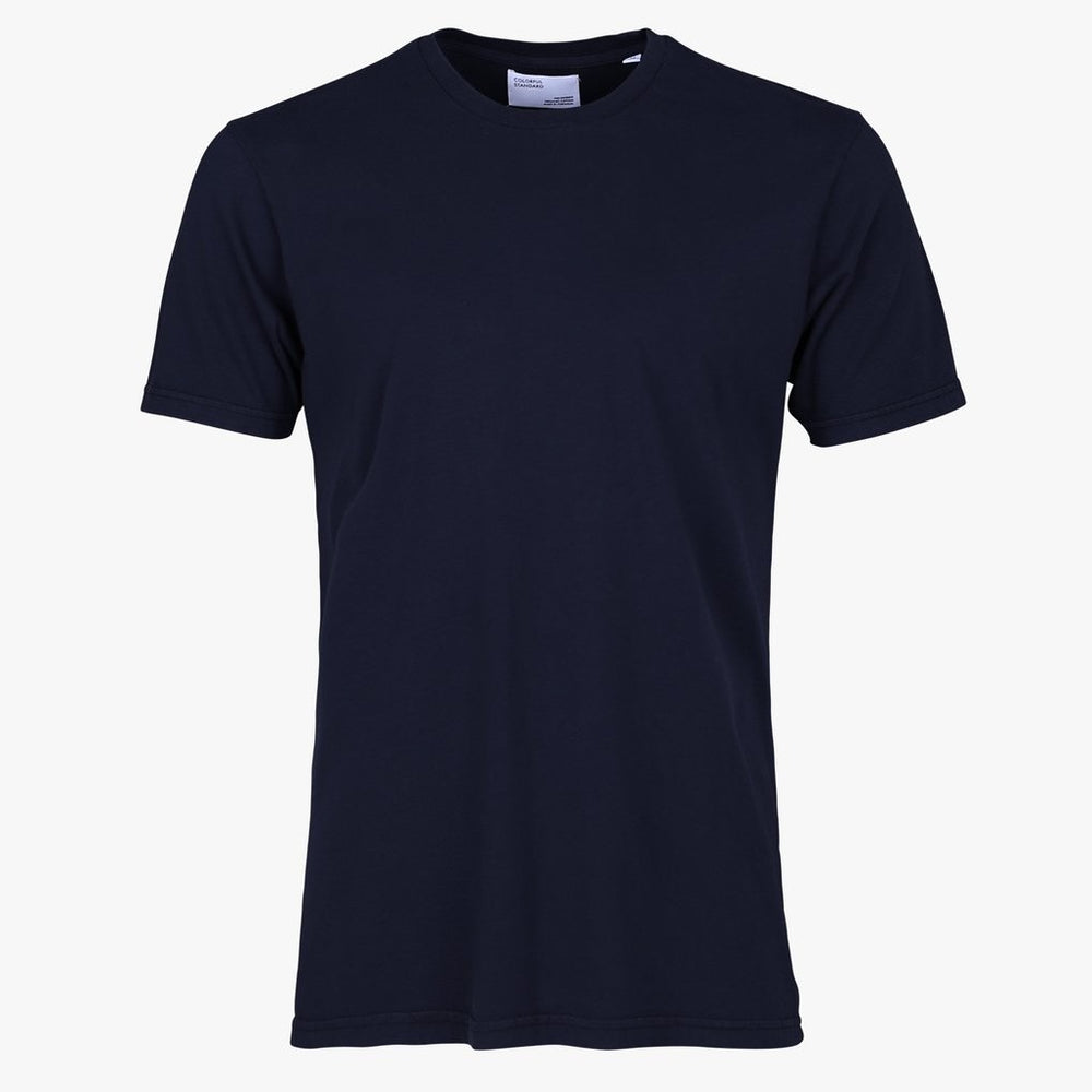 Light Organic Tee, Navy Blue