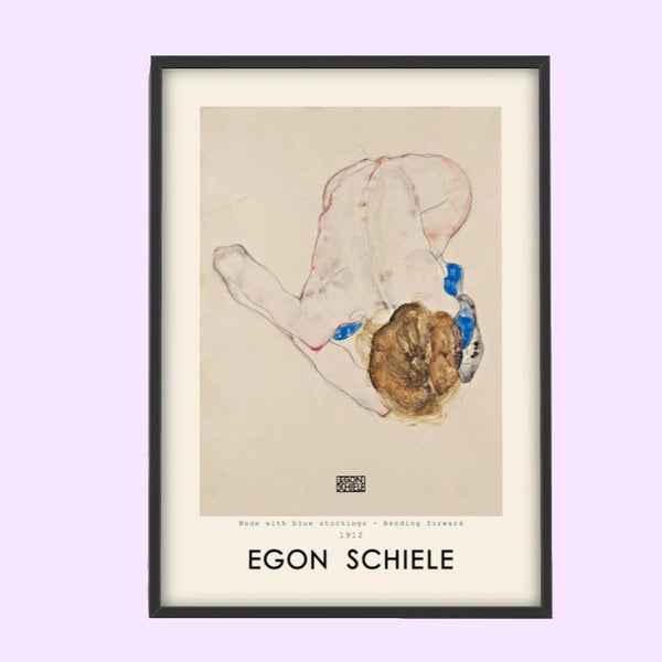 Plakat - Egon Schiele, Woman with Blue Stockings