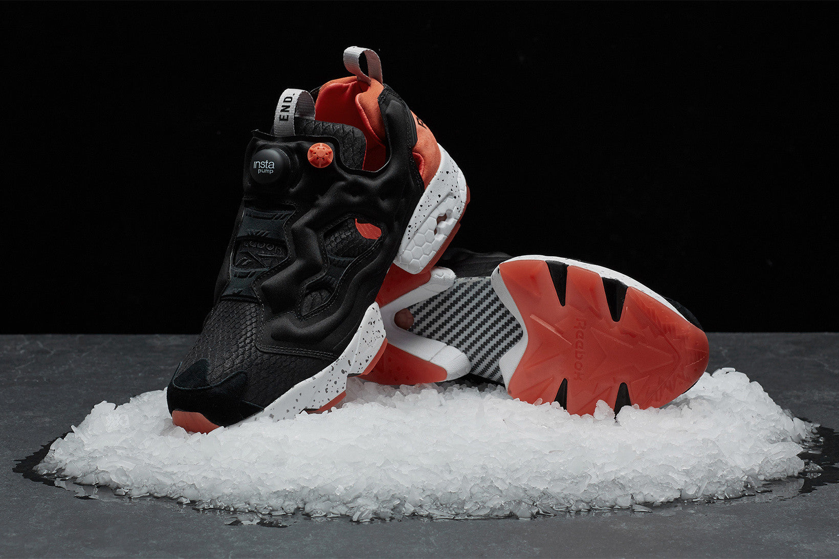 "END. & Reebok Unite for a ""Black Salmon"" Edition of the Instapump Fury"