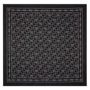 BARBED BANDANA - BLACK