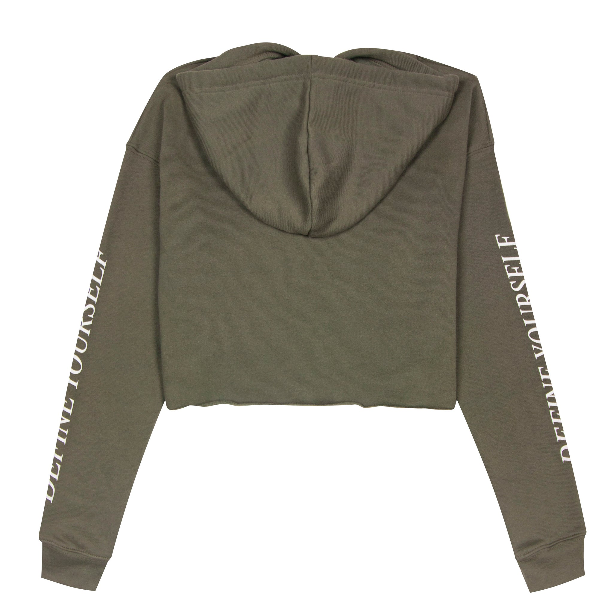 Outre Websters Women's olive crop top hoodie