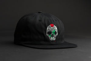 Outre vampire skull black - unstructured 6 panel cotton twill hat