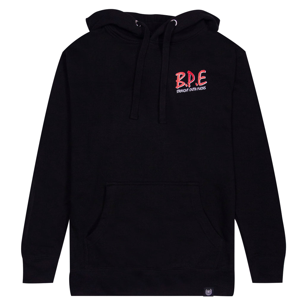 STRAIGHT OUTTA HOODIE- BLACK