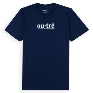 Outre webster navy blue short sleeve shirt