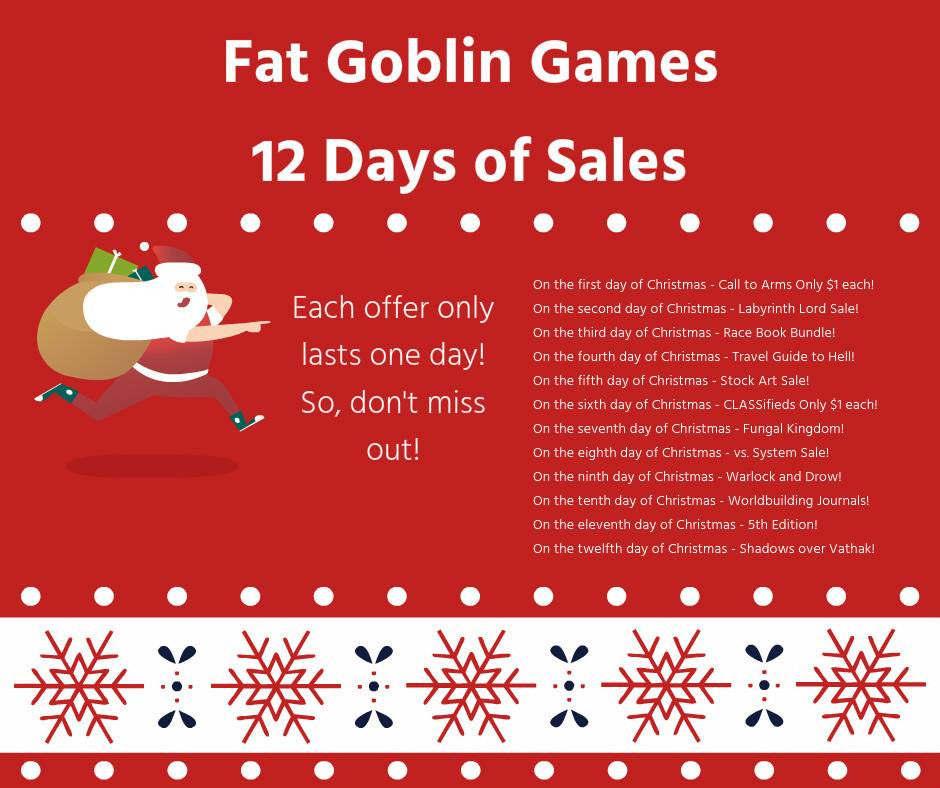 12 Days of Sales for Fat Goblin Games!
