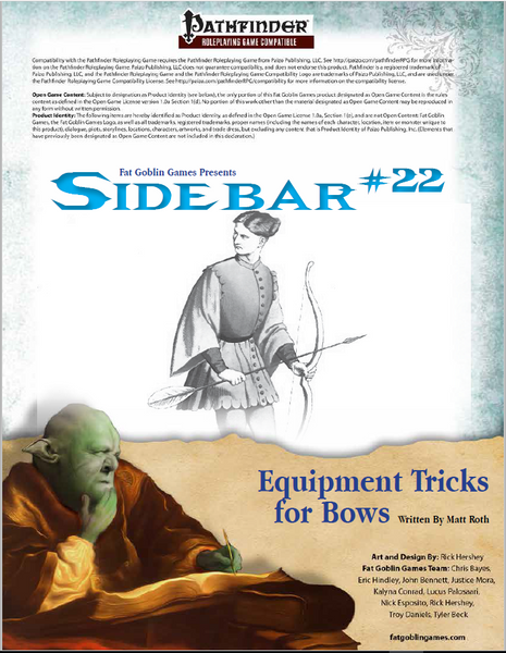 Sidebar 22 - Equipment Tricks for Bows
