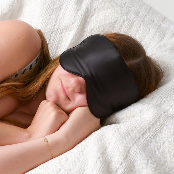 100% Natural Silk Sleeping Eye Mask Eye Shade Sleep Mask Black Mask Bandage on Eyes for Sleeping