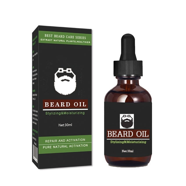 30ml Beards Hair Beard Growth Thicker Essence Oil for Men Shape Beard Grooming Beard Growth Products Vitamin Serum New