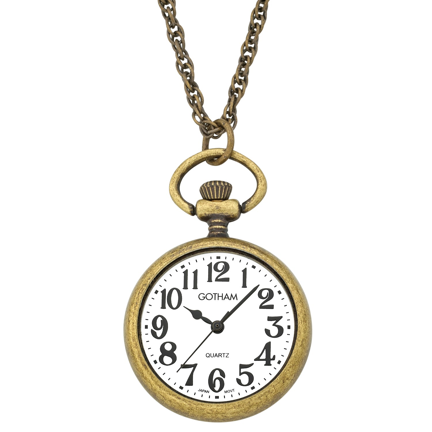 Gotham womens antique gold tone open face pendant watch with chain gotham womens antique gold tone open face pendant watch with chain gwc14136a mozeypictures Images