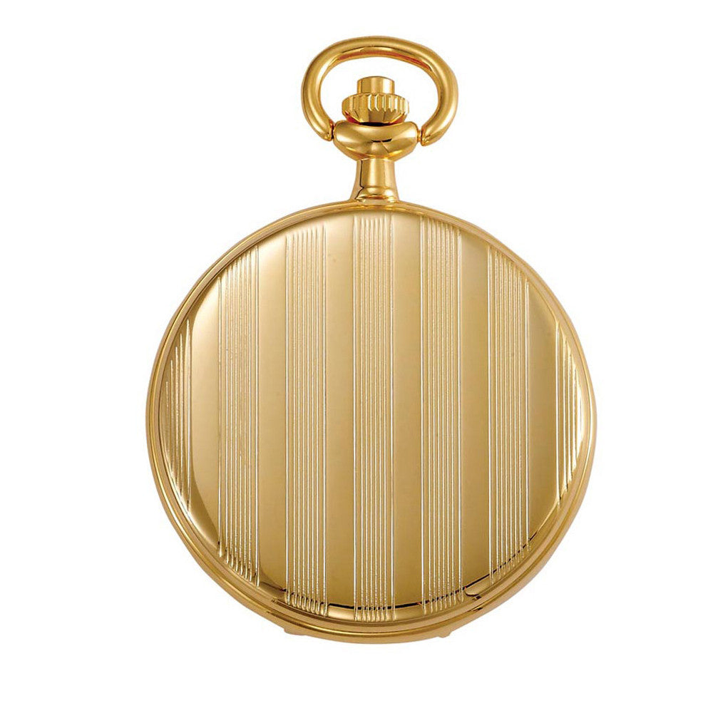 Gotham Men's Gold-Tone Polished Finish White Dial Covered Quartz Pocket Watch # GWC15442GA - Gotham Watch